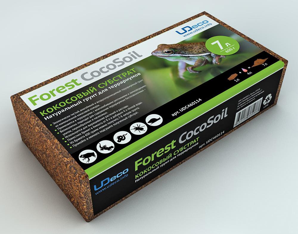 UDeco Forest CocoSoil - Натуральный грунт для террариумов