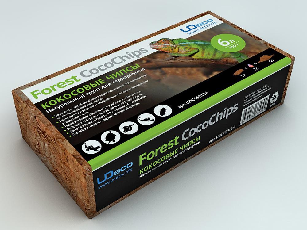 UDeco Forest CocoChips - Натуральный грунт для террариумов